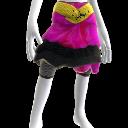 Falda de tul a capas con cinturón