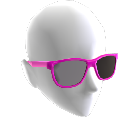 Pinkfarbene Retro-Sonnenbrille